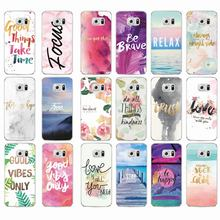 Positive Good Vibe Only Love Happy Trust Quote Soft TPU Phone Case Cover Coque Fundas For Samsung Galaxy J5 A5 S6 S7 Edge S8