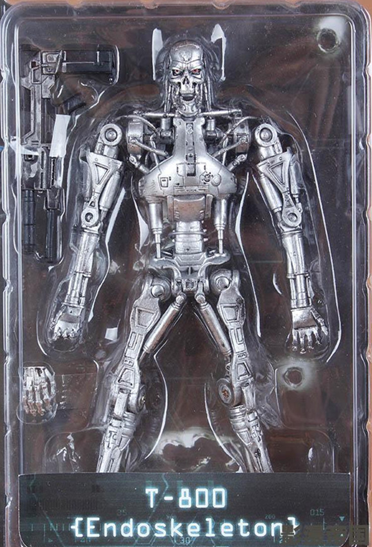 NECA The Terminator 2 T800  ENDOSKELETON Action Figure Toy T-800 Terminator PVC boy Toy gift 18cm Free Shipping<br><br>Aliexpress