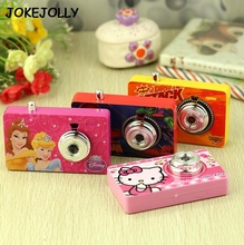 Cute Cartoon Hello Kitty, Princess, Spiderman, Cars toy Camera for kids Baby Educational Digital projection camera toys GYH
