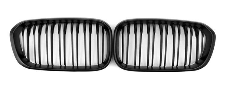 2015 2016 F20 Kidney ABS Plastic Matte Black 2-line Front Racing Grill Grille for BMW F20 1 Series LCI<br><br>Aliexpress