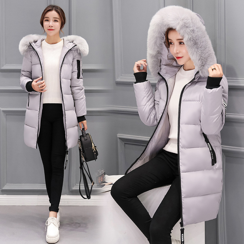 Winter coat woman 2017 New sell warm parka jacket Women Fur collar Thick hooded plus size Long setion jacket CoatÎäåæäà è àêñåññóàðû<br><br>