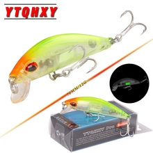 YTQHXY Sinking Minnow Lure 70mm 12g Hand Artificial Luminous Bait Sea Pike Fishing Wobblers 2017 Model Crank Bait YE-90(China)