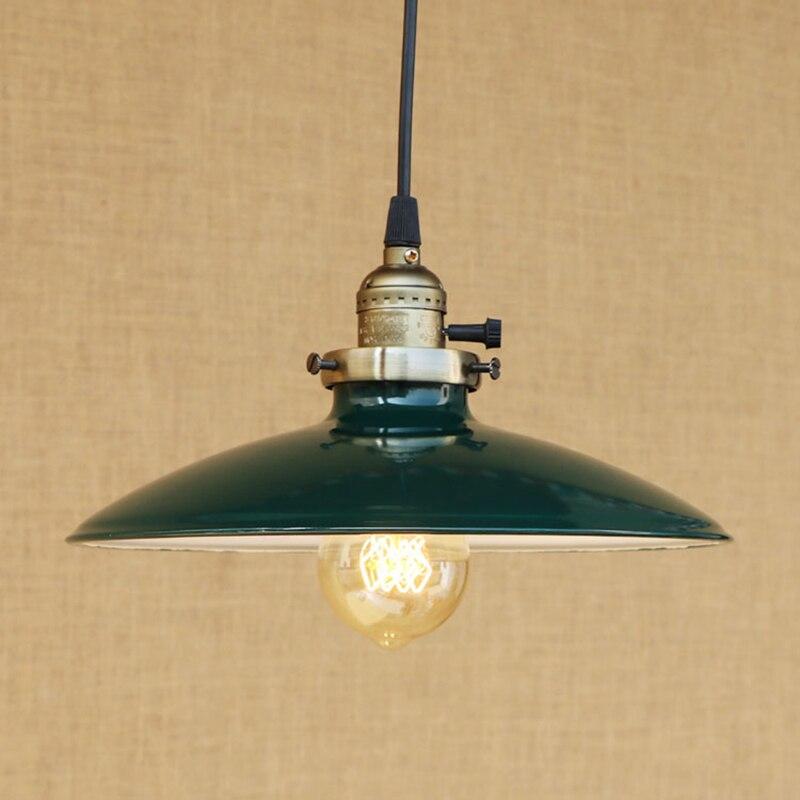 Modern LED Colorful iron pendant lamp vintage hanging E27 light with switch pendant light bar/restaurant living room <br>