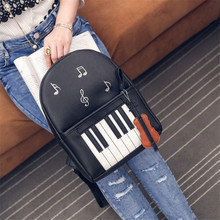 Fashion Piano Musical Violin Printing Backpack Casual Music Backpacks For Teenage Girls NEW Travel Students Cool School Rucksack