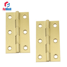 10pcs 2.5inch Brass Hinges Furniture Fixtures Bronze Cabinet hinges 1mm Thickness Door Hinges for Kitchen Cabinets(China)