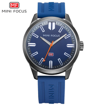 MINIFOCUS Sport Quartz Watch Luxury Watch Men Famous Brand Ocean Black Blue Silicone Strap Clock Waterproof Wristwatch Stock(China)