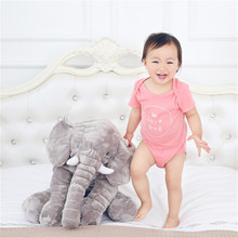 60cm Colorful Giant Elephant Stuffed Animal Toy Animal Shape Pillow Baby Doll Home Decor Peluche Plush Toys For Children Gifts