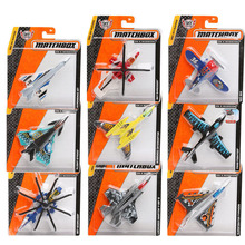 Pack of 5 Matchbox Mini City of Heroes Series Sky Busters Airplane Model Metal Aircraft Helicopters for Boys Diecast Air Plane(China)