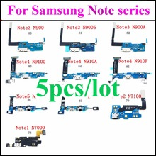 Micro USB Jack PCB Board for Samsung Note2/3/4/5 Charging socke Flex Cable N7000 N7100 N900 N9005 N900A N9100 N910A N910F N920A