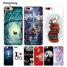 HongJiang harry potter deer owl hallow quotes cell phone Cover case for iphone 6 4 4s 5 5s SE 5c 6s 7 8 plus X(China)
