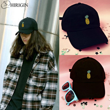HIRIGIN 2017 Men Women Unisex Adjustable Pineapple Baseball Cap Hip Hop Pop Bboy Cap Outdoor Sun Snapback Hats Casquette(China)