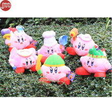 New Super Mario STAR Kirby Keychains Popopo Pendant Key Ring 6 Styles 13-20cm Plush Doll Kids Christmas Gift Free Track