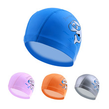 New Cartoon Swimming cap PU Children Waterproof Swimming caps kids swim hats Ear Protector colorful Baby Swimming hat