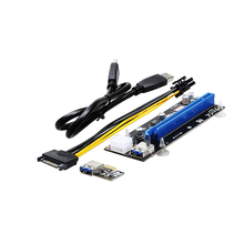 PCI Express PCI-E 1X to 16X Riser Card Extender + USB 3.0 Cable / 15 Pin SATA to 4P 4 Pin IDE Molex or 6P 6 Pin Power Wire(China)
