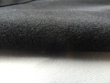 1 meter black fabric for DIY sewing Stuffed toys sofa furniture material Warp knitted brushed Plain Loop velboa velvet