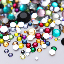 2000Pcs BORN PRETTY Flat Bottom Crystal Rhinestone Colorful Mixed Size DIY Manicure Nail Art Decorations(China)