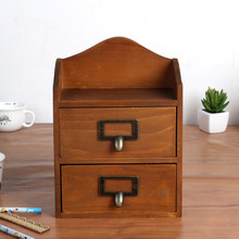 Durable Wooden Storage Boxes Jewelry/Necklace Container Food Organizer Case Vintage Organizers Box For Office Desktop