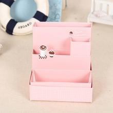 DIY Paper Board Storage Box Desk Decor Stationery Makeup Cosmetic Table Decorative Storage Boxes Cardboard Home Box(China)