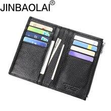 Badge Bank ID Business Credit Genuine Leather Card Holder Men Wallet Cover Case Car Auto Document Cardholder Porte Carte