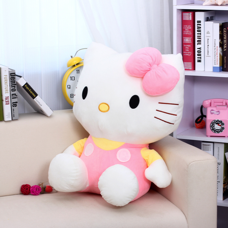 the stuffed lovely  hello kitty toys plush cat doll perfect gift pink kitty about 45cm<br><br>Aliexpress