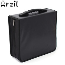 Oxford Cloth 400 Discs CD DVD Storage Bag Case Wallet Album Media Storage Black Storage Holder Discs Protection Organizer