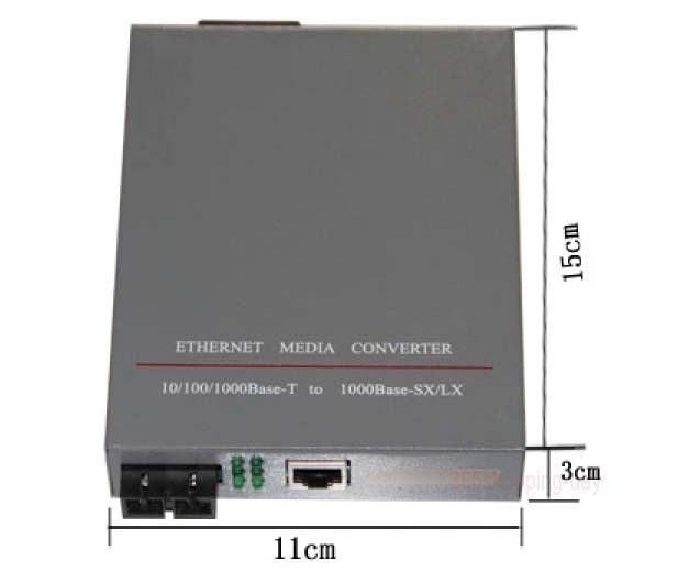 Fiber Optical Media Converter 1000Mbps RJ45 Single mode fiber 2 port SC 25KM