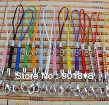 50pcs/lot mobile Phone Strap Lariat Lanyard Cord with lobster clasp Jewelry Findings 5cm F1269A(China)