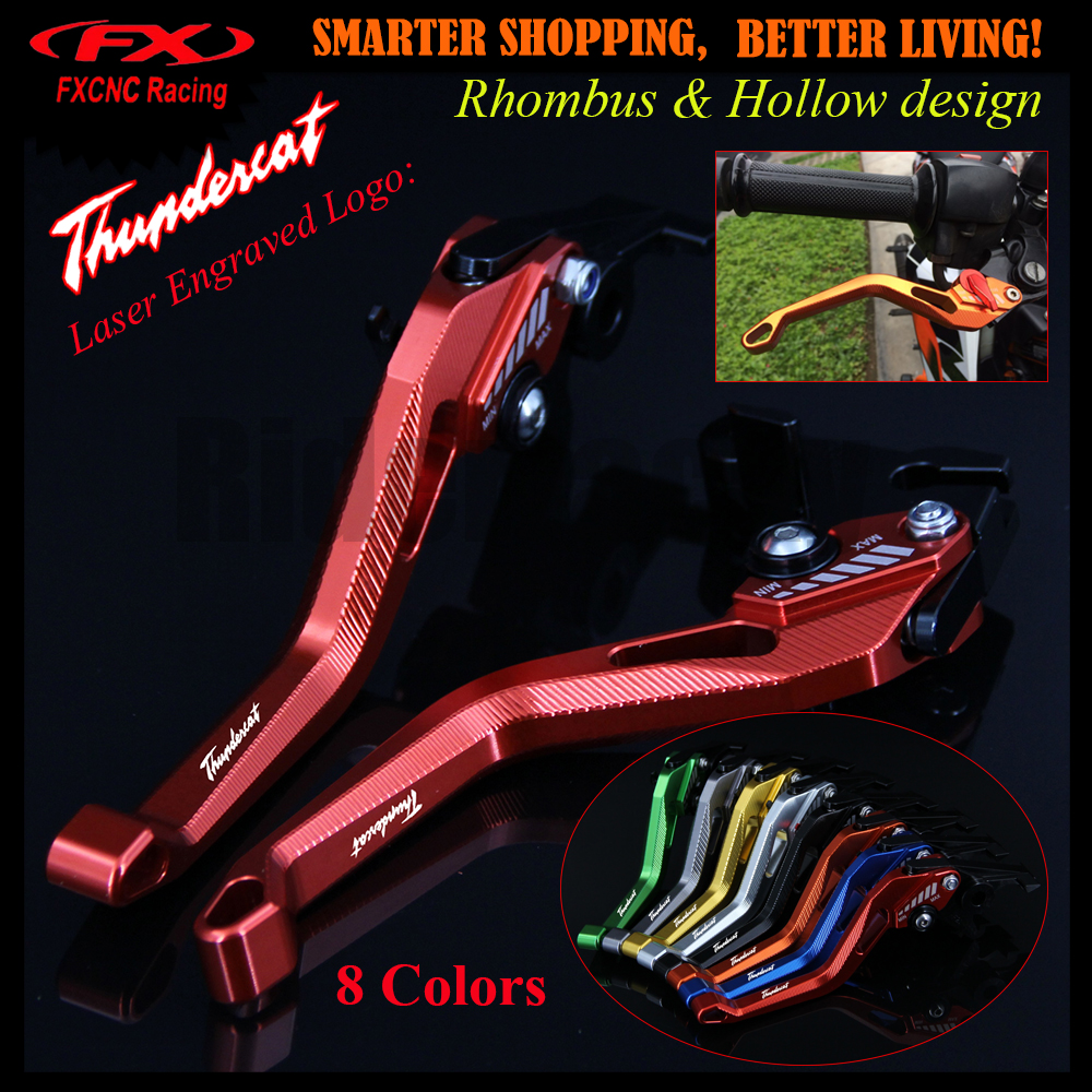 3D Rhombus Hollow Design patent For YAMAHA YZF600R Thundercat 1996-2007 2004 2005 2006 CNC Red Motorcycle Brake Clutch Levers<br>