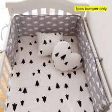 Buy Hot Sale Cotton Baby Bumper 100% Cotton Shell Gray Newborn Crib Bumper Padded Breathable Fill Comfortable Baby Bedding for $22.03 in AliExpress store