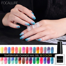 Focallure Gel 7ml Gel Nail Polish Temperature Color Changing Nail Polish Thermal Color Change UV Gel Lacquer