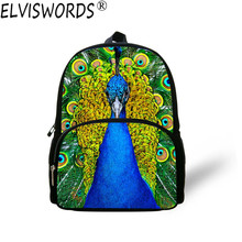 ELVISWORDS Women Fashion Backpack Beautiful Peacock Painting Lady Casual Book Bags Womens Travel Laptop Bag Rucksack Mochila