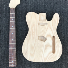 ASH body Electric Guitar Kit, Unfinished Guitar, Maple neck Rosewood fretboard, no finish painting, DIY guitar, Wholesale
