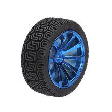 65mm Rubber Tire With Sponge Liner For 1:10 1/10 Smart Car Robot Parts(China)