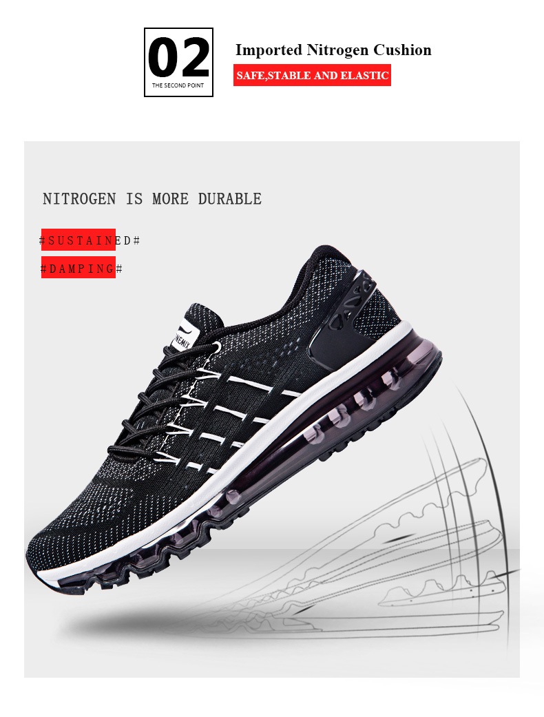 17 Air Cushion Running Shoes Breathable Massage Sneakers Man Jogging Sport Sneakers for Outdoor Walking Shoe Run Comfortable 7