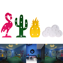 Novelty Night Light Flamingo Lamp Pineapple Table Lamp Cactus Night Light Cloud LED Night light Home Christmas Party Decor