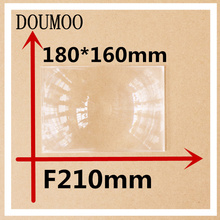 Dropshippig Focal length 210 mm Condenser lens Rectangle 180*160 mm Plastic fresnel lens Plane magnificat fresnel lens(China)