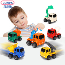 Beiens Diecast mini alloy construction vehicle Engineering Car Dump-car Dump Truck Model Classic Toy Children's Toys