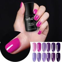 Luxury Finger 15ML UV Gel Nail Polish Lavender Purple Varnish Long Lasting Soak Off Led UV Lamp for Salon Pro Nails Art Design(China)