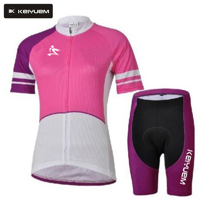 Womens Cycling Jersey Set 2017 Pink Biker Outfit Sets with Skull Bike Racing Clothing Short Sleeve Cycling Uniformes Ciclismo<br><br>Aliexpress