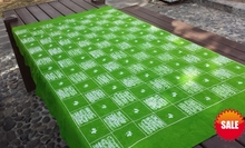 Japan Bandhani Tie dye Unique Original Design Decorative Arts / Export Handmade Itajime Green Plaid Table Cloth Many Uses(China)