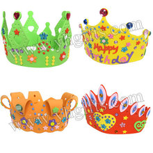 12PCS/LOT.Handmade birthday crown craft kits,Princess crown,Birthday party favor,Kids party supplies,Mixed design.
