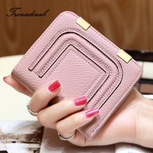 Wallet Female 2017 New Crown Lady Short Women Wallets Mini Money Purses Fold PU Leather Bags Female Coin Purse Card Holder(China)