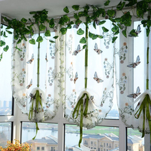80 *100 CM Pastoral Style Home Decoration Voile Window Curtains Bed Room Window Tulle Sheer Drapes Curtain VB249 T40