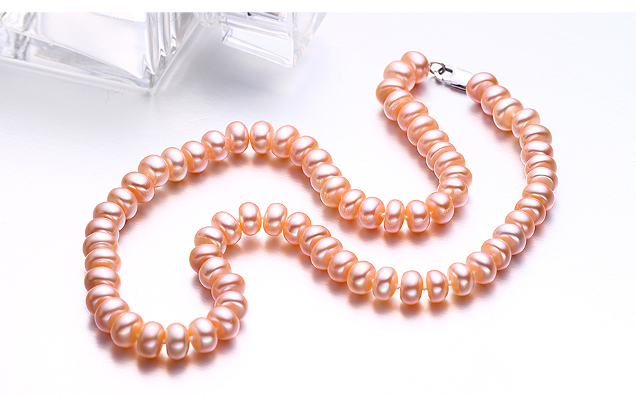 HTB1VluKefDH8KJjy1Xcq6ApdXXad - White Natural Freshwater Pearl Necklace For Women 8-9mm Necklace Beads Jewelry 40cm/45cm/50cm Length Necklace Fashion Jewelry