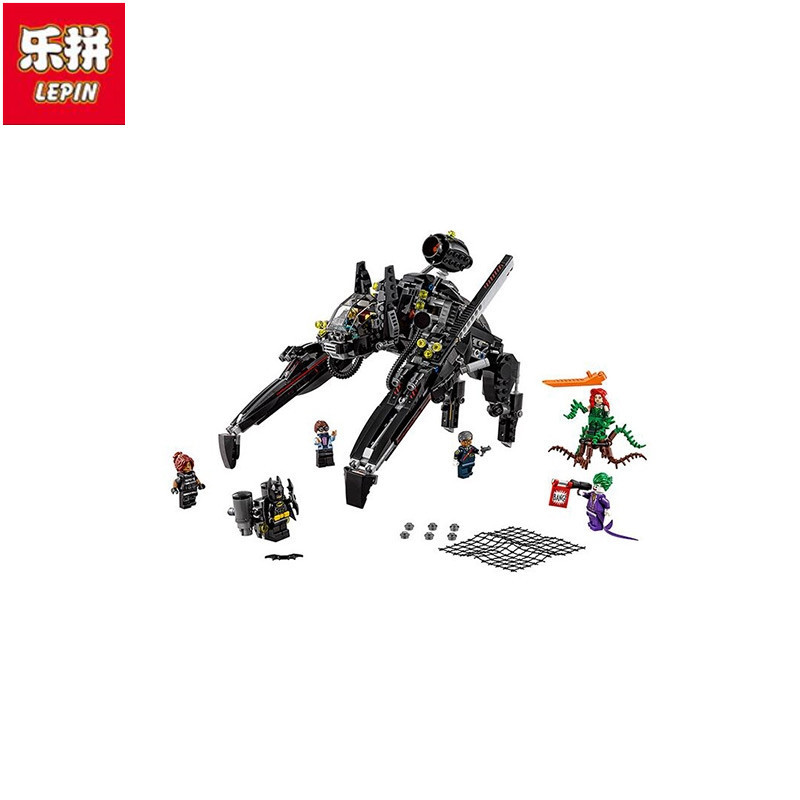 Lepin 07056 New 775Pcs Genuine Batman Movie Series The Scuttler Bat Spaceship Set Building Blocks Bricks Education Toys<br>