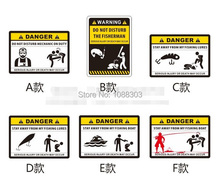 Funny Warning DANGER Fishing Sticker Personality Outdoor Fishing Car Sticker Fashion Fishing Hobby Motorcycle Decals Fish(China)