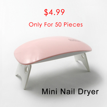 Mini Nail Dryer 6W USB DC 12V Time Set 45/60 seconds Gel Nail Polish LED Portable Manicure Machine Salon Tool UV Lamp(China)