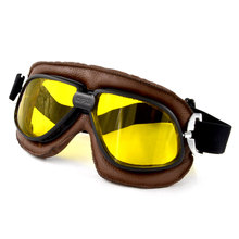 BJMOTO Vintage Motorcycle Goggles Smoking Steampunk Goggles Cheap Coating Sport Sunglasses for Half or Open Face Helmets(China)