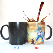 Dragon Ball Z Super Saiyan black red blue hair Vegata Mug Color Changing Mugs coffee tea cup best gift for your friends
