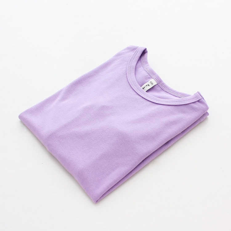 Autumn New 100% Cotton Kids T Shirt Candy Color Long Sleeve Baby Boys Girls T-Shirt Children Pullovers Tee Girl Boys Clothes 4